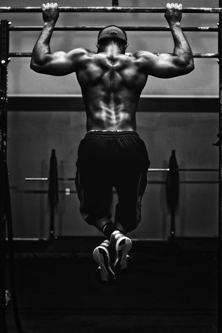 a black guy working out